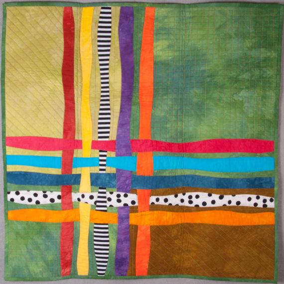 """Art Quilt Pattern Woven 30 x 30"""""""